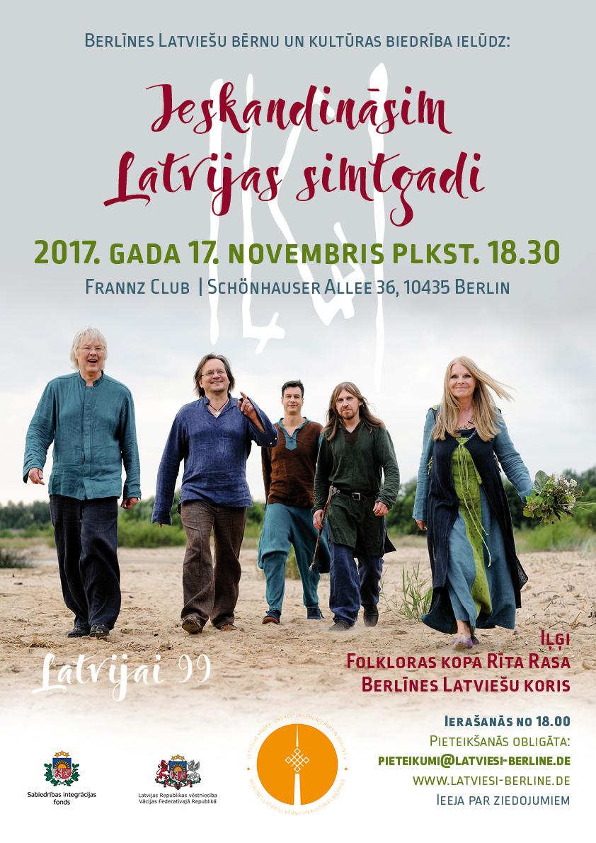 Ieskandināsim Latvijas Simtgadi – Iļģu Koncerts Berlīnē