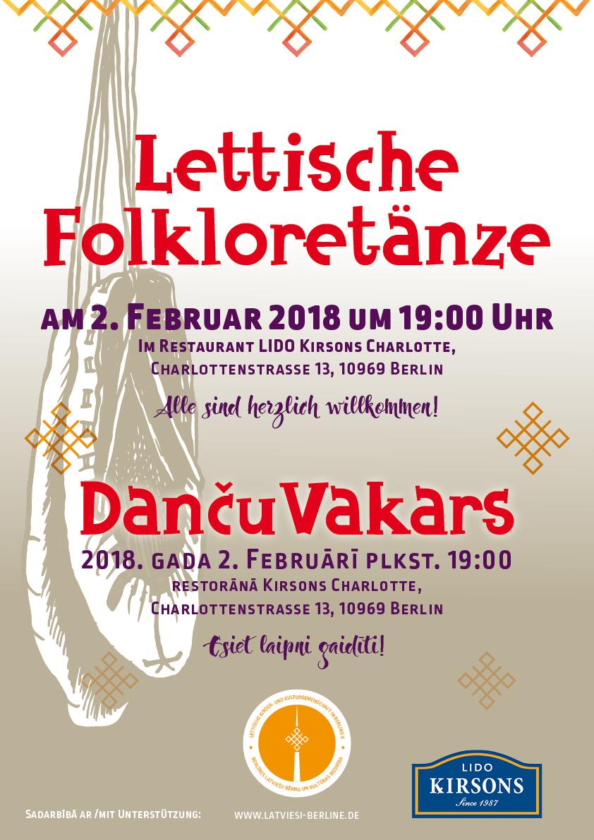 Danču Vakars – Lettische  Folkloretänze / Februar 2018
