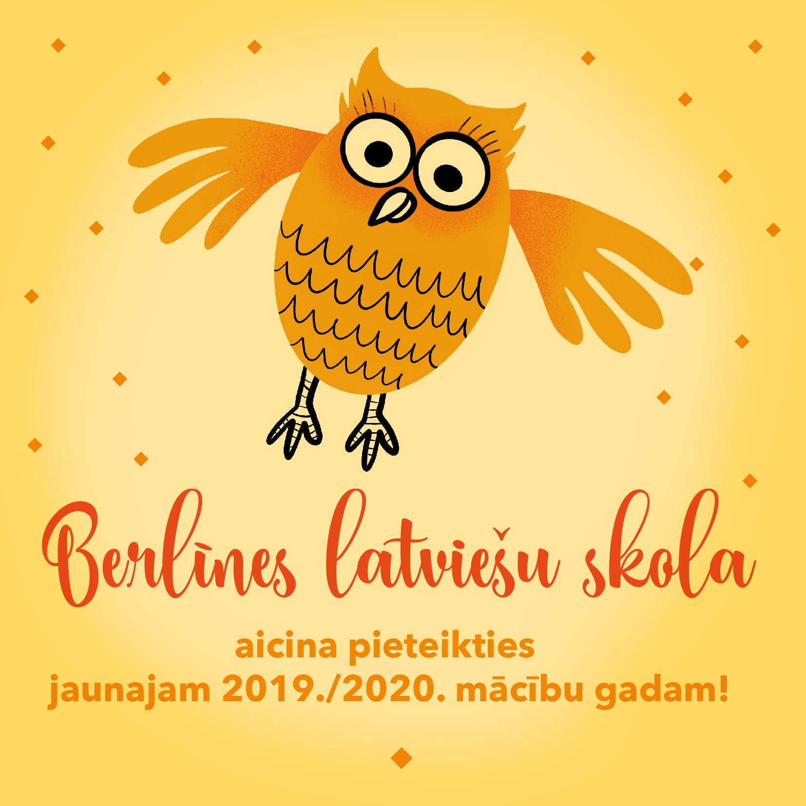 Sākusies Pieteikšanās Berlīnes Latviešu Skolas 2019./2020. Mācību Gadam!