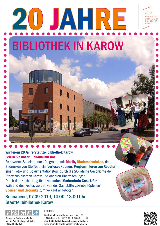 20 Jahre Bibliothek In Karow –  Auch Hier Singen Und Tanzen Mit Rīta Rasa
